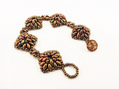 Diamond SuperDuo Bracelet Beadwork Kit - Bronze Mix